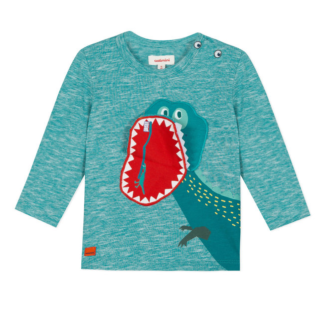 PLAYFUL DINOSAUR-MOUTH T-SHIRT