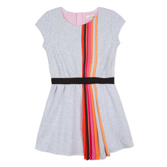 CATIMINI KNITTED DRESS WITH RAINBOW PLEAT