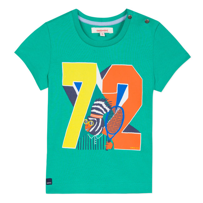 GREEN T-SHIRT WITH ANIMAL SPORT PATTERN