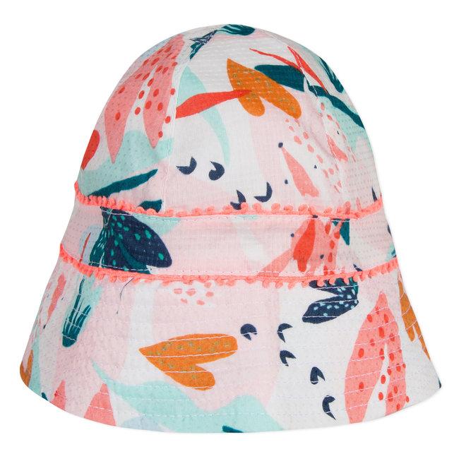 FLOWER-PRINTED SUN HAT