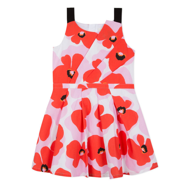 FLOWER POWER PRINTED POPLIN DRESS