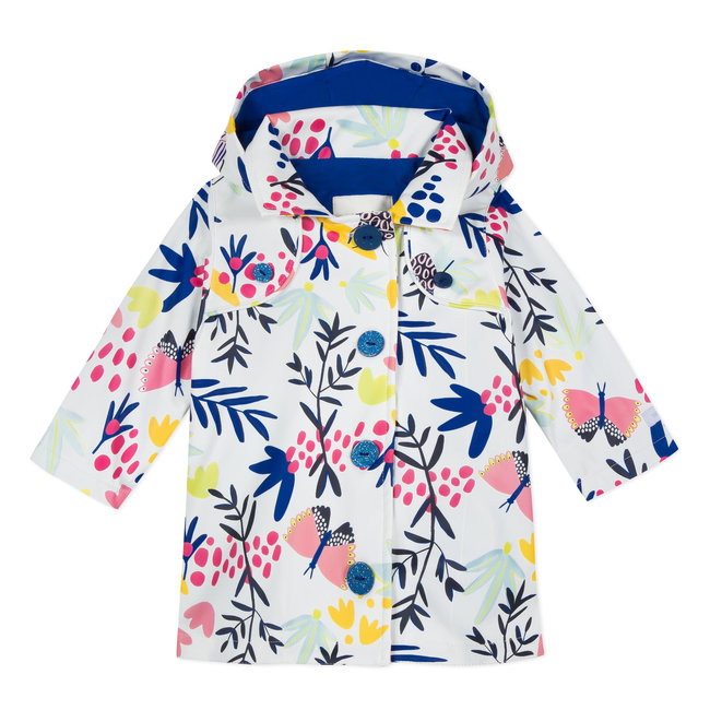 FLORAL PRINTED RUBBERISED RAINCOAT