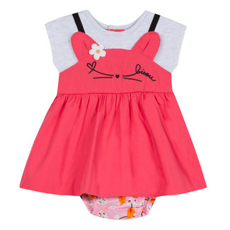 CAT KISS DRESS AND BLOOMERS IN TWO MATERIALS
