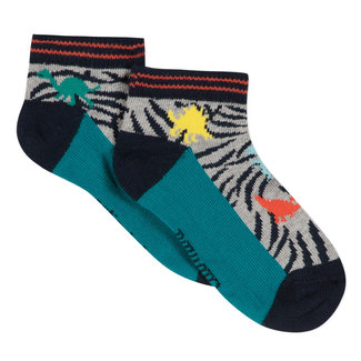ANKLE SOCKS WITH JACQUARD DINOSAURS