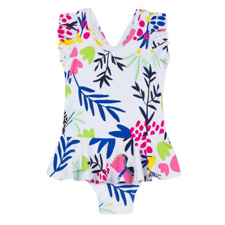 CATIMINI 1-PIECE SWIMSUIT WITH FLORAL PRINT