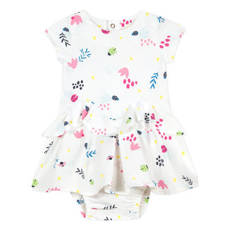 FLORAL PRINTED PERCALE DRESS AND BLOOMERS