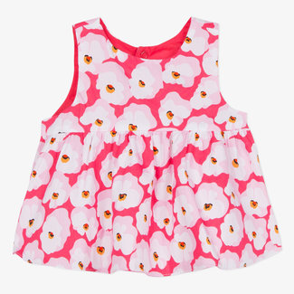 REVERSIBLE TOP WITH CHERRY BLOSSOM PRINT