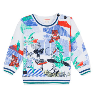 KNITTED JUMPER WITH ANIMAL GRAPHIC DESIGN