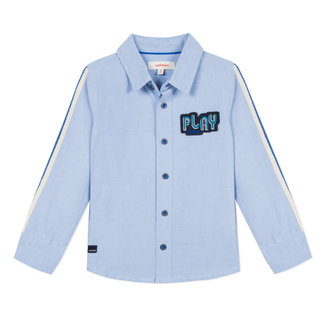 POPLIN SHIRT WITH BANDS AND RETRO PATCH