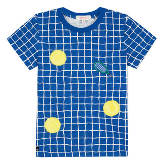 T-SHIRT WITH TENNIS PATTERN IN BOUCLE
