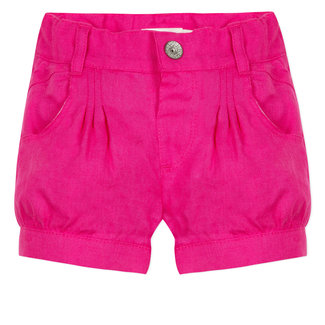 FUSHIA LINEN PLEATED SHORTS