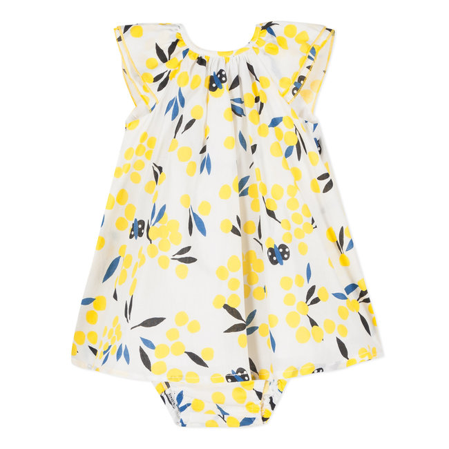 PERCALE MIMOSA PRINT DRESS WITH BLOOMERS