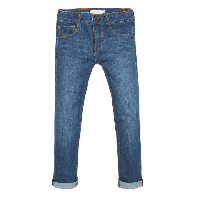 REGULAR FIT STRETCH STONEWASH DENIM JEANS