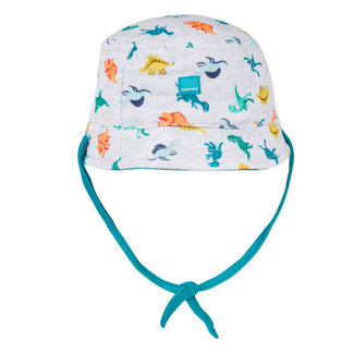 REVERSIBLE SUN HAT WITH DINOSAUR PRINT