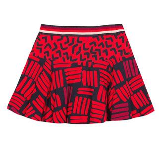 Abstract printed skirt