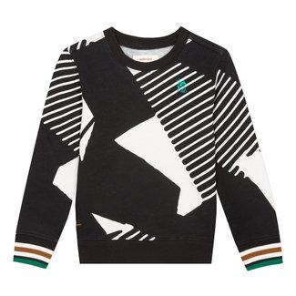 Round neck sweatshirt with graphic print