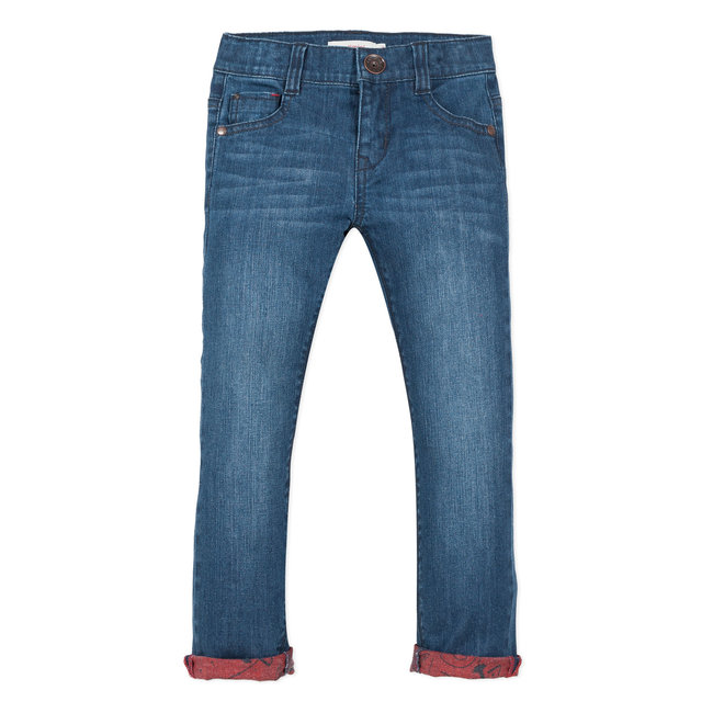 Regular jeans with printed back