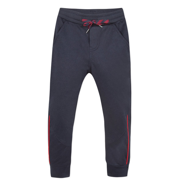 Piqué knit trousers with yokes