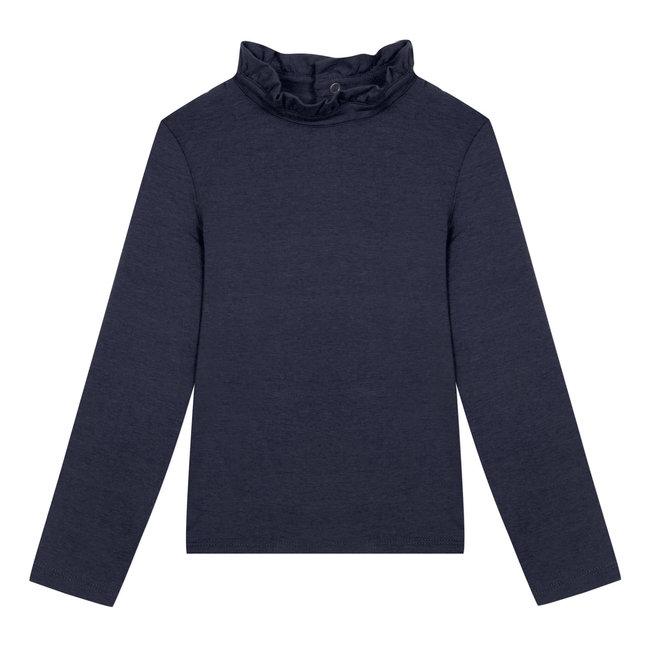 Midnight blue modal cotton T-shirt