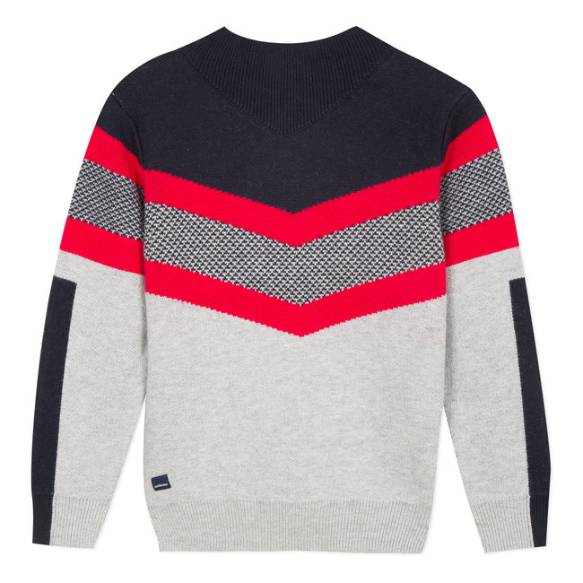 Knitted jumper with graphic jacquard