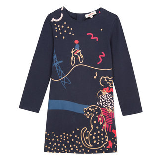 "KNitted dress with 'Coquettes à Paris"" image"