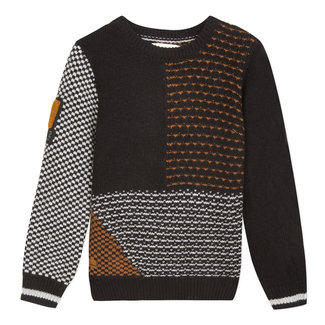 Jumper with multiple graphic jacquards