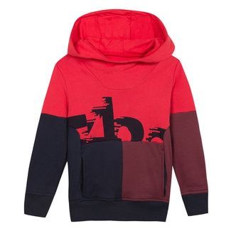 Fleece sweatshirt with colourblocks