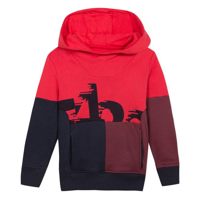 Fleece sweatshirt with colourblocks