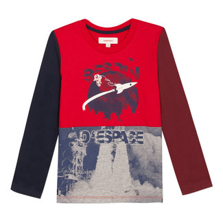 Colourblock T-shirt with a space mission image