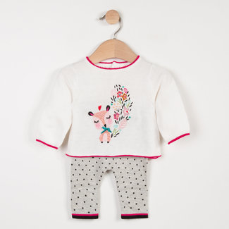 KNITTED SET WITH CHARMING PATTERN