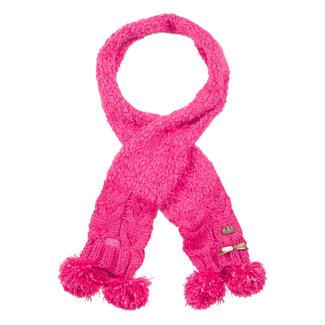 Knit scarf with pompom