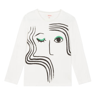 T-shirt with glitter face design
