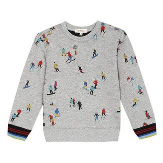 Foamback mottled print ski sweatshirt