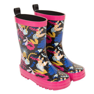 Rain boots with floral pattern