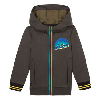 Zipped foamback sweatshirt with terry badge