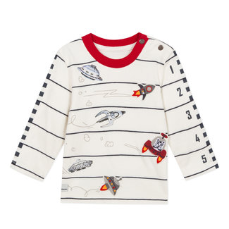 Space race t-shirt with coloured patches