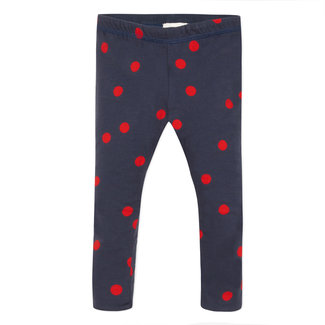 Reversible polka dot print legging