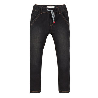 Denim knit jeans with an elasticated waist