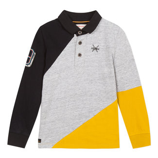 Polo jersey in colourblocks