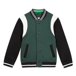 CATIMINI Green colourblock fleece teddy jacket