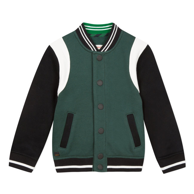 CATIMINI Green colourblock fleece teddy jacket