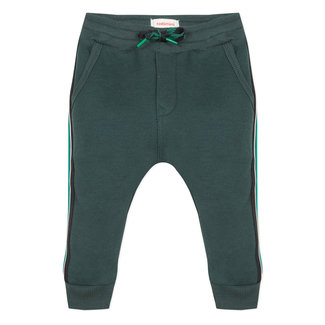 Striped green fleece jogging pants