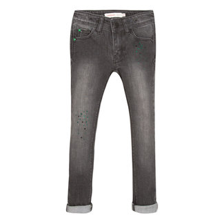 CATIMINI Slim jeans in grey denim and sequins