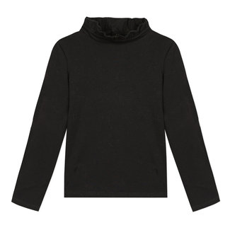 Black cotton modal T-shirt