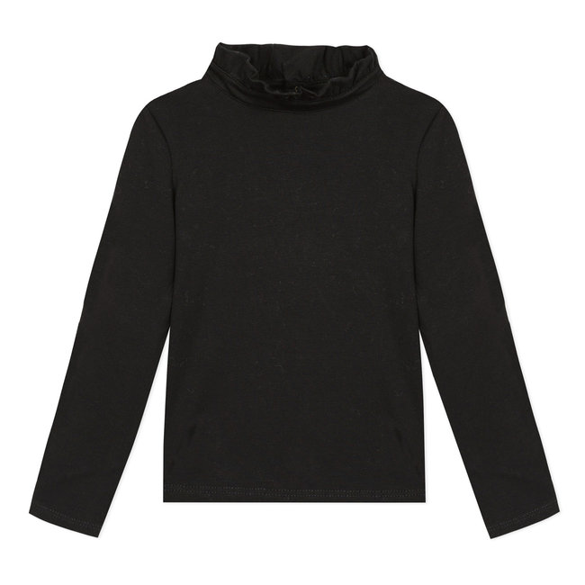 Black cotton modal T-shirt