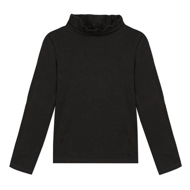 CATIMINI Black cotton modal T-shirt