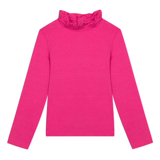 Fuchsia pink modal cotton T-shirt