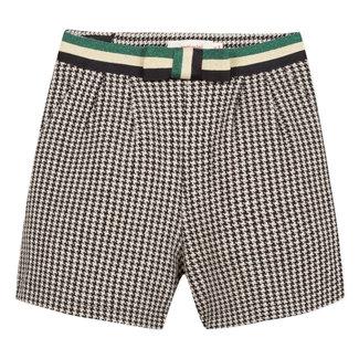 Tubular knit houndstooth shorts