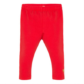 Plain red legging