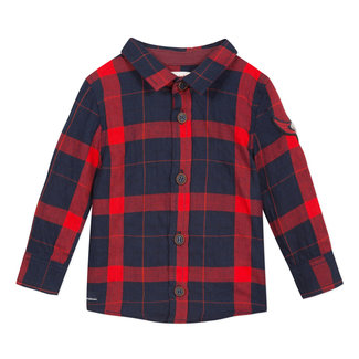 Red gingham checked shirt